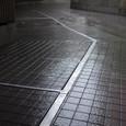 雨に濡れた舗道
